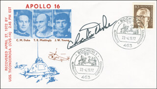 BRIGADIER GENERAL CHARLES M. DUKE JR. - COMMEMORATIVE COVER SIGNED