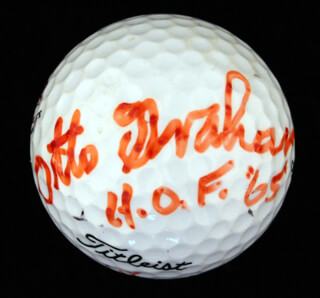Autographs: OTTO GRAHAM - GOLF BALL SIGNED