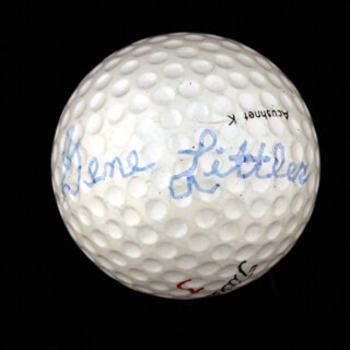 GENE LITTLER - GOLF BALL SIGNED