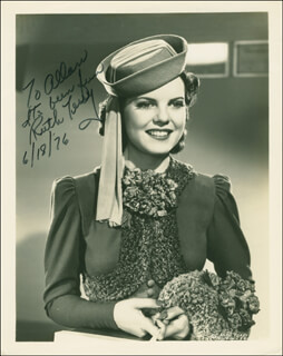 RUTH TERRY - AUTOGRAPHED INSCRIBED PHOTOGRAPH 06/18/1976