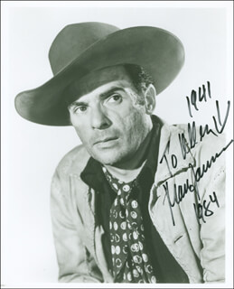 MARC LAWRENCE - AUTOGRAPHED INSCRIBED PHOTOGRAPH 1984