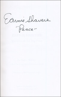 EARNIE SHAVERS - BOOK SIGNED