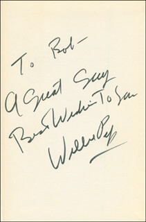 WILLIE WILL O' THE WISP PEP - INSCRIBED BOOK SIGNED