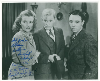 ADVENTURES OF CAPTAIN MARVEL MOVIE CAST - AUTOGRAPHED INSCRIBED PHOTOGRAPH CO-SIGNED BY: WILLIAM BILLY BENEDICT, FRANK COGHLAN JR., LOUISE CURRIE
