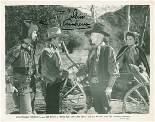SLIM ANDREWS - AUTOGRAPHED SIGNED PHOTOGRAPH