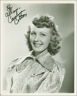 CAROLINA COTTON - AUTOGRAPHED INSCRIBED PHOTOGRAPH