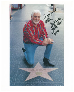 JOHN HART - AUTOGRAPHED INSCRIBED PHOTOGRAPH 11/14/1998