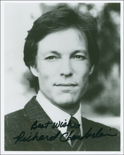 RICHARD CHAMBERLAIN - AUTOGRAPHED SIGNED PHOTOGRAPH