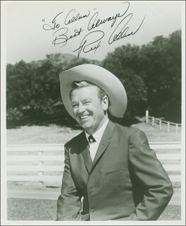 REX ALLEN - AUTOGRAPHED INSCRIBED PHOTOGRAPH