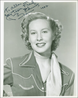 PENNY EDWARDS - AUTOGRAPHED INSCRIBED PHOTOGRAPH 1982