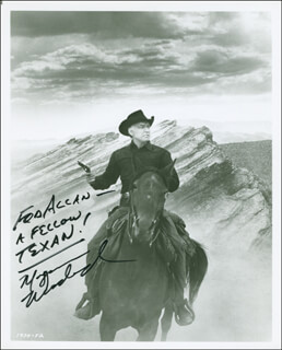 MORGAN WOODWARD - AUTOGRAPHED INSCRIBED PHOTOGRAPH