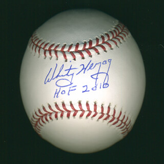 WHITEY HERZOG - ANNOTATED BASEBALL SIGNED