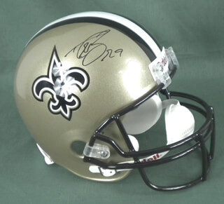 DREW BREES - HELMET SIGNED