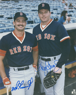 ROGER CLEMENS - AUTOGRAPHED SIGNED PHOTOGRAPH CO-SIGNED BY: MIKE GREENWELL