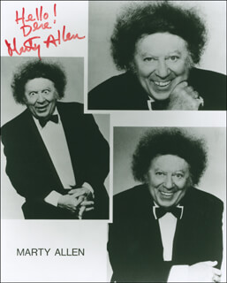 MARTY ALLEN - AUTOGRAPHED SIGNED PHOTOGRAPH