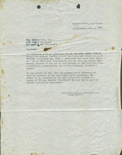 SANDY KOUFAX - CONTRACT SIGNED 10/28/1963