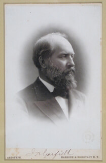 PRESIDENT JAMES A. GARFIELD - PHOTOGRAPH MOUNT SIGNED