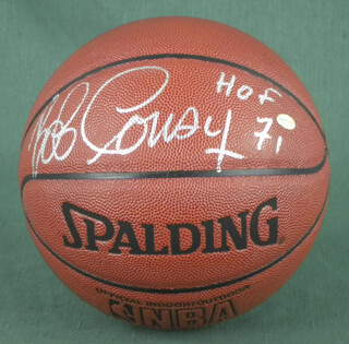 Autographs: BOB COUSY - BASKETBALL SIGNED