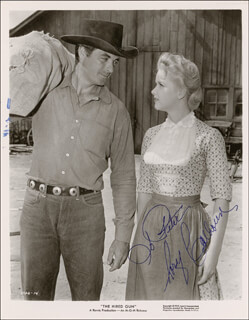 RORY CALHOUN - INSCRIBED PRINTED PHOTOGRAPH SIGNED IN INK