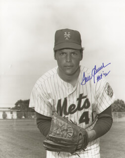 TOM TOM TERRIFIC SEAVER - AUTOGRAPHED SIGNED PHOTOGRAPH