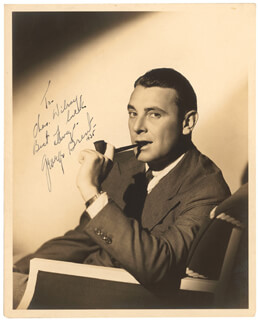 GEORGE BRENT - AUTOGRAPHED INSCRIBED PHOTOGRAPH 1935