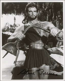 STEVE REEVES - AUTOGRAPHED SIGNED PHOTOGRAPH