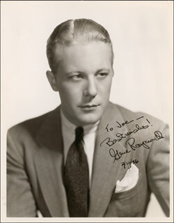 GENE RAYMOND - AUTOGRAPHED INSCRIBED PHOTOGRAPH 02/16/1936