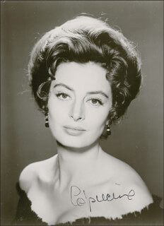 CAPUCINE - AUTOGRAPHED SIGNED PHOTOGRAPH