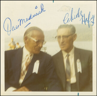CHICK HAFEY - AUTOGRAPHED SIGNED PHOTOGRAPH CO-SIGNED BY: JOE DUCKIE-WUCKIE MEDWICK