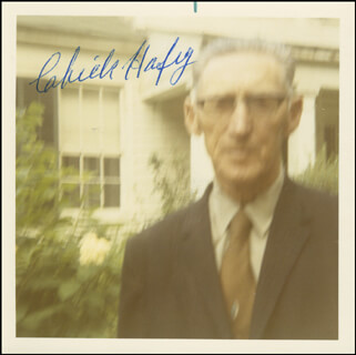 CHICK HAFEY - AUTOGRAPHED SIGNED PHOTOGRAPH