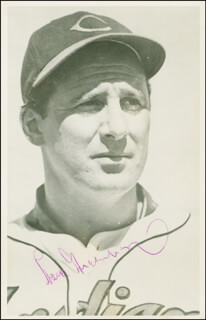HANK GREENBERG - AUTOGRAPHED SIGNED PHOTOGRAPH