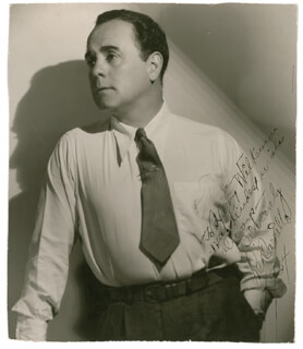 LEO PANCHO CARRILLO - AUTOGRAPHED INSCRIBED PHOTOGRAPH 1934