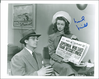 NOEL NEILL - AUTOGRAPHED SIGNED PHOTOGRAPH