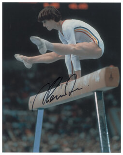 NADIA COMANECI - AUTOGRAPHED SIGNED PHOTOGRAPH
