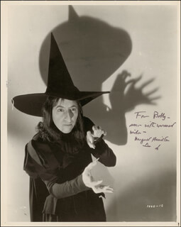 MARGARET HAMILTON - AUTOGRAPHED INSCRIBED PHOTOGRAPH