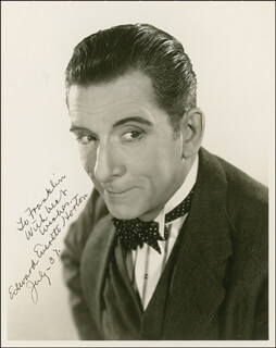 EDWARD EVERETT HORTON - AUTOGRAPHED INSCRIBED PHOTOGRAPH 07/1937