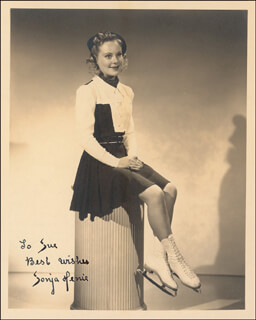 SONJA HENIE - AUTOGRAPHED INSCRIBED PHOTOGRAPH