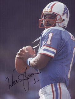 WARREN MOON - AUTOGRAPHED SIGNED PHOTOGRAPH