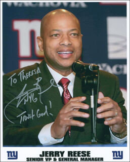 JERRY REESE - AUTOGRAPHED SIGNED PHOTOGRAPH