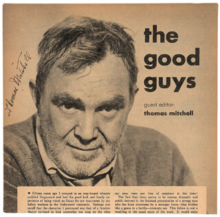 THOMAS MITCHELL - MAGAZINE PHOTOGRAPH SIGNED