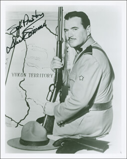 DICK SIMMONS - AUTOGRAPHED SIGNED PHOTOGRAPH
