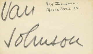 VAN JOHNSON - AUTOGRAPH