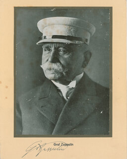 GRAF VON ZEPPELIN - PHOTOGRAPH MOUNT SIGNED