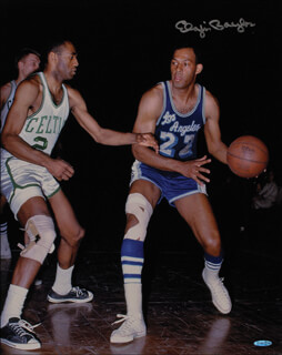 ELGIN BAYLOR - AUTOGRAPHED SIGNED PHOTOGRAPH