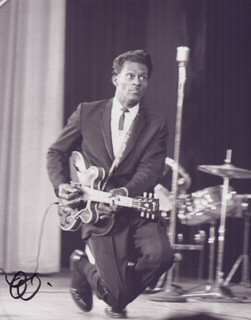 CHUCK BERRY - AUTOGRAPHED SIGNED PHOTOGRAPH 1950