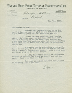 A.M. DOC SALOMON - TYPED LETTER SIGNED