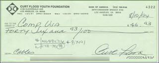 CURT FLOOD - AUTOGRAPHED SIGNED CHECK 08/10/1994