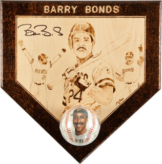 BARRY L. BONDS - EPHEMERA SIGNED
