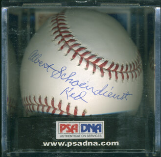 RED SCHOENDIENST - AUTOGRAPHED SIGNED BASEBALL