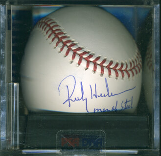 RICKEY HENDERSON - AUTOGRAPHED SIGNED BASEBALL